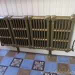 geplaatste gietijzeren radiator 104