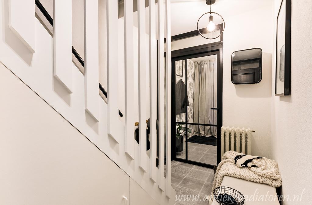 geplaatste gietijzeren radiator 107