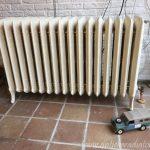 geplaatste gietijzeren radiator 108 e