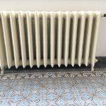 geplaatste gietijzeren radiator 113 a