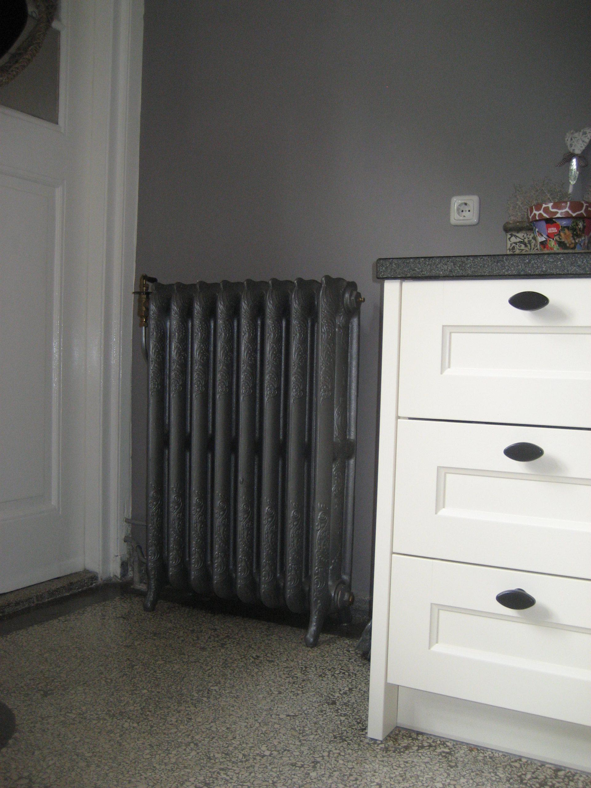 geplaatste gietijzeren radiator 3