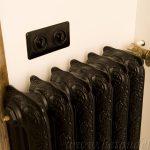 geplaatste gietijzeren radiator 34