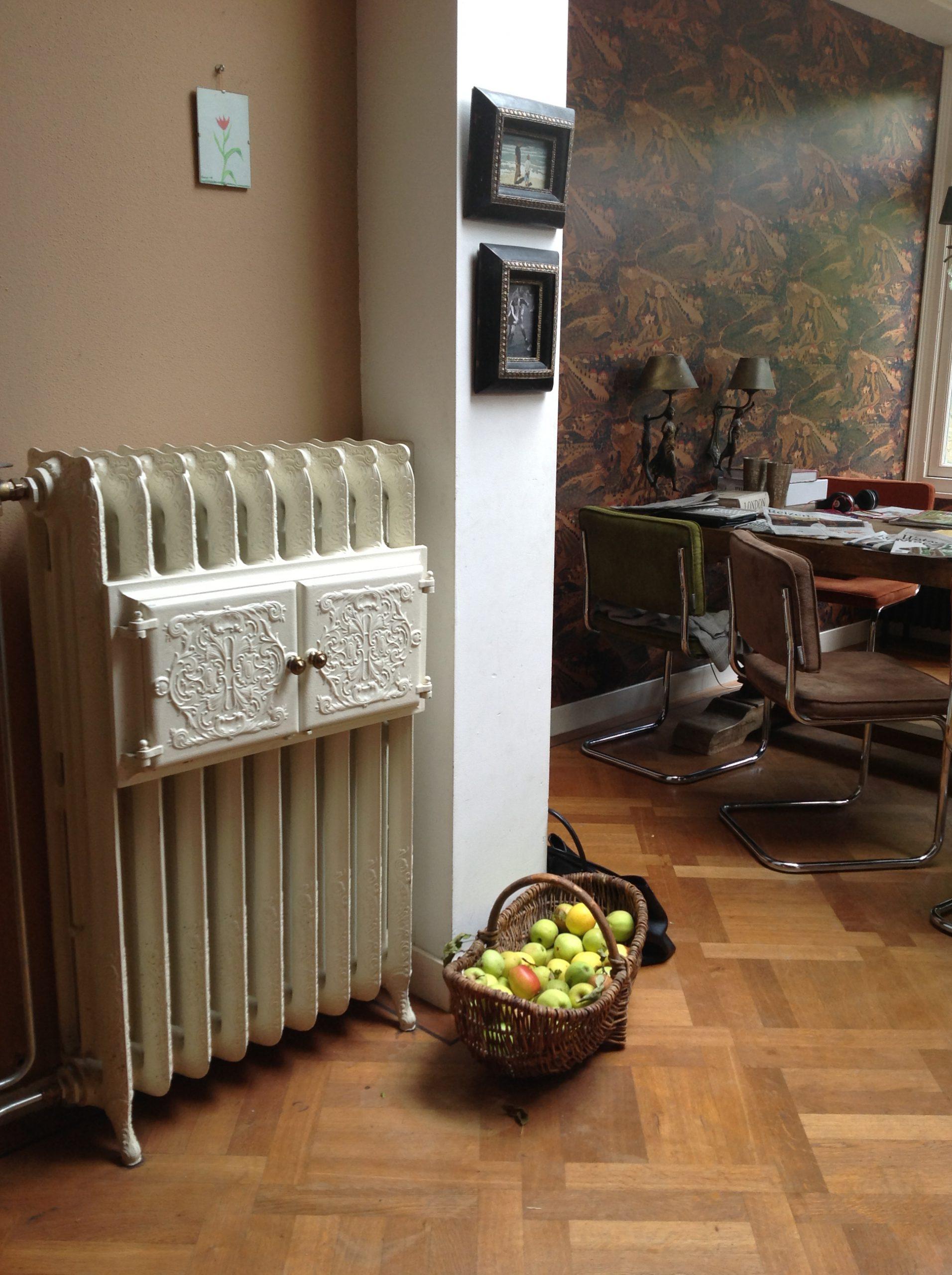 geplaatste gietijzeren radiator 67
