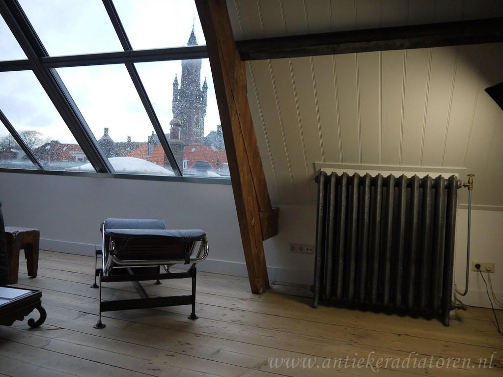 geplaatste gietijzeren radiator 9