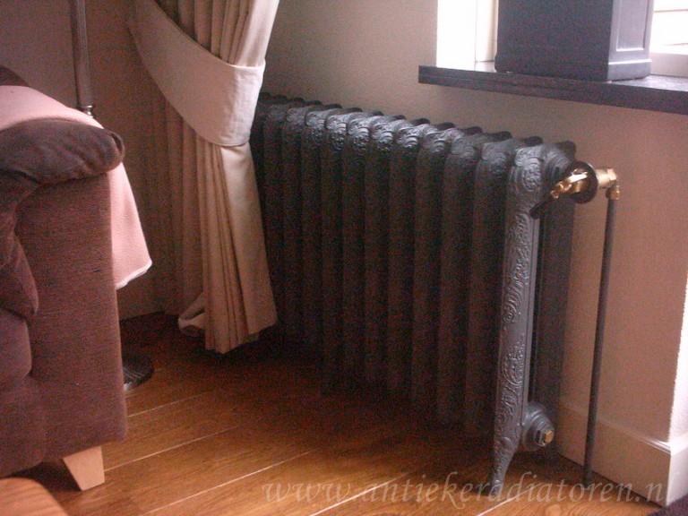 geplaatste gietijzeren radiator 1