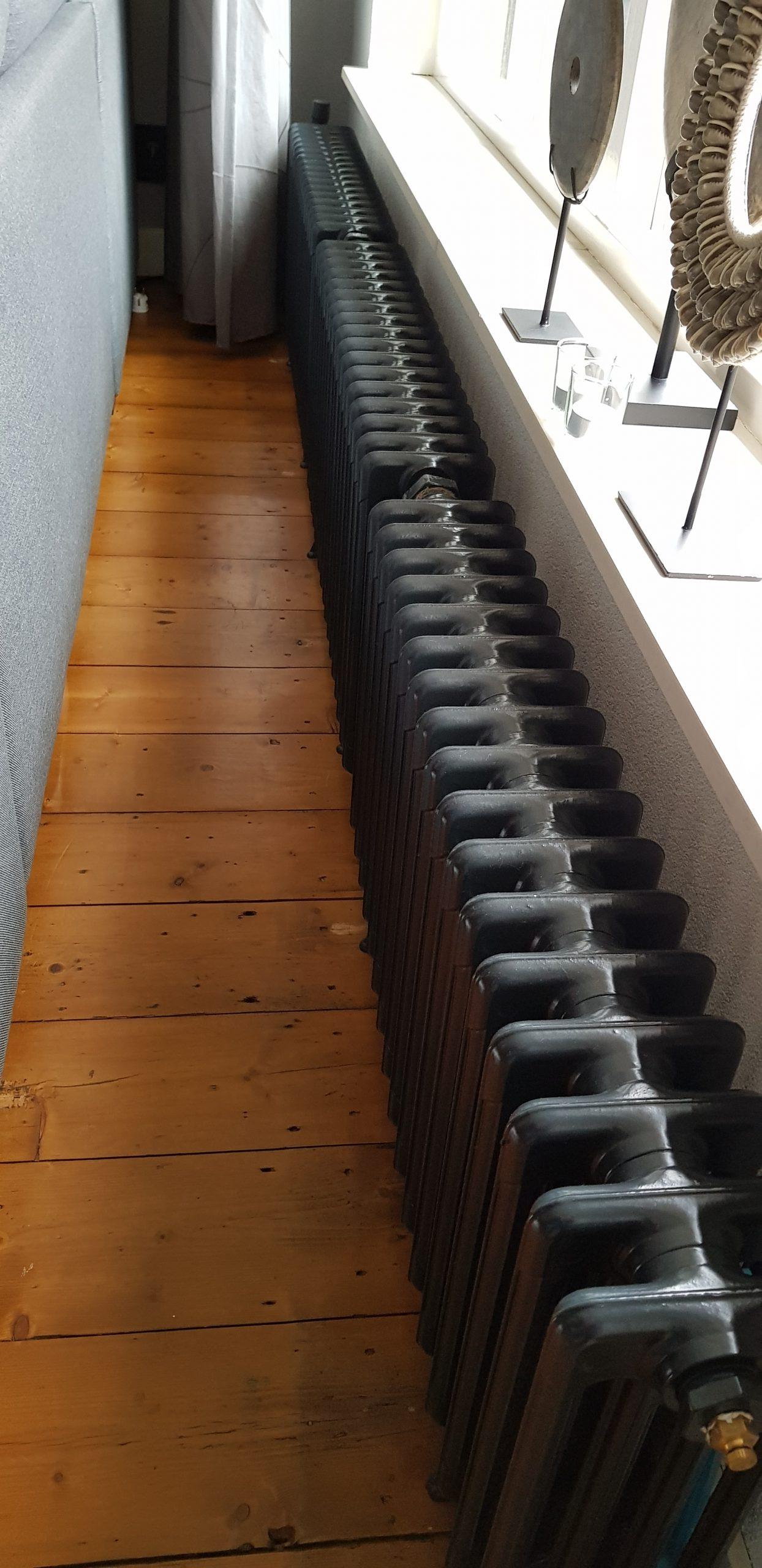 geplaatste gietijzeren radiator 114 d