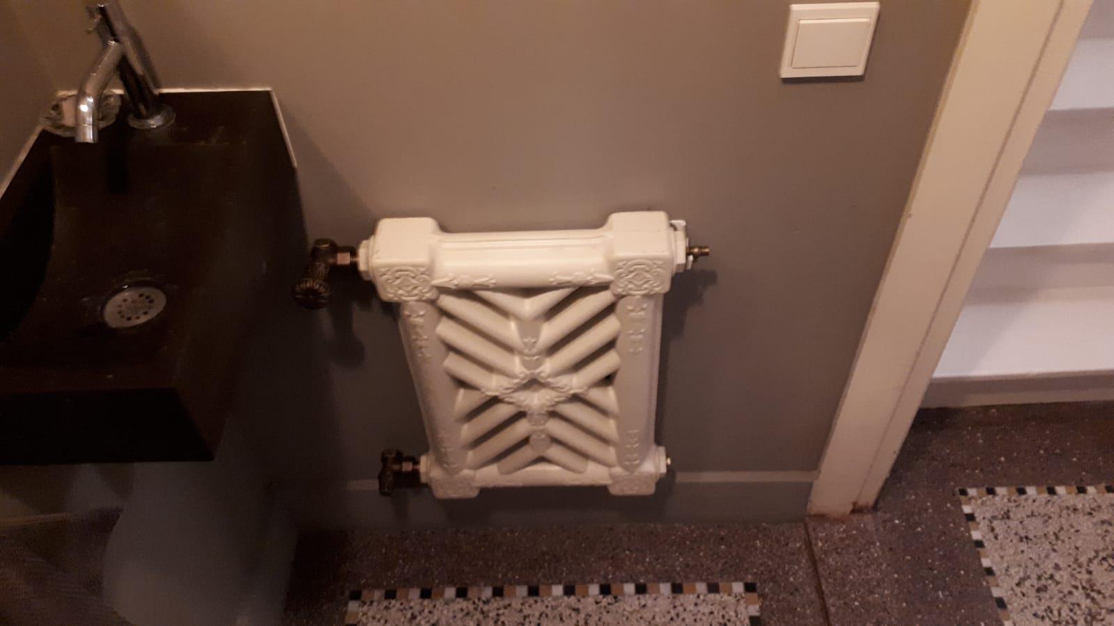 geplaatste gietijzeren radiator 120