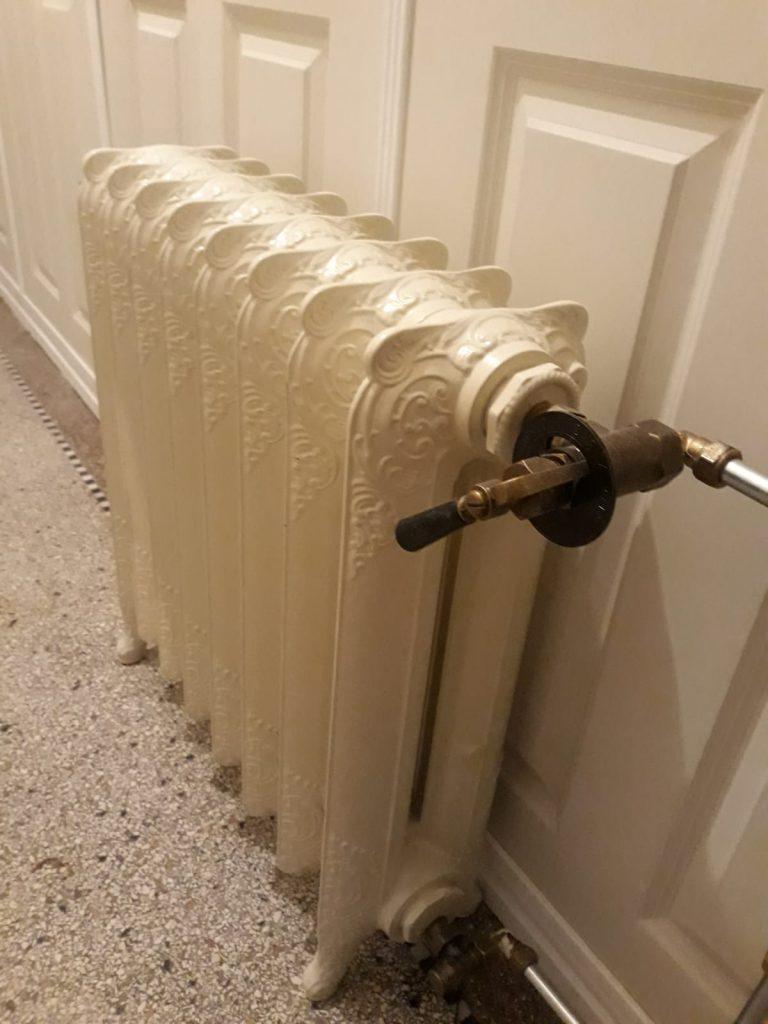 geplaatste gietijzeren radiator 121