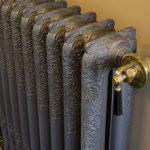 geplaatste gietijzeren radiator 17