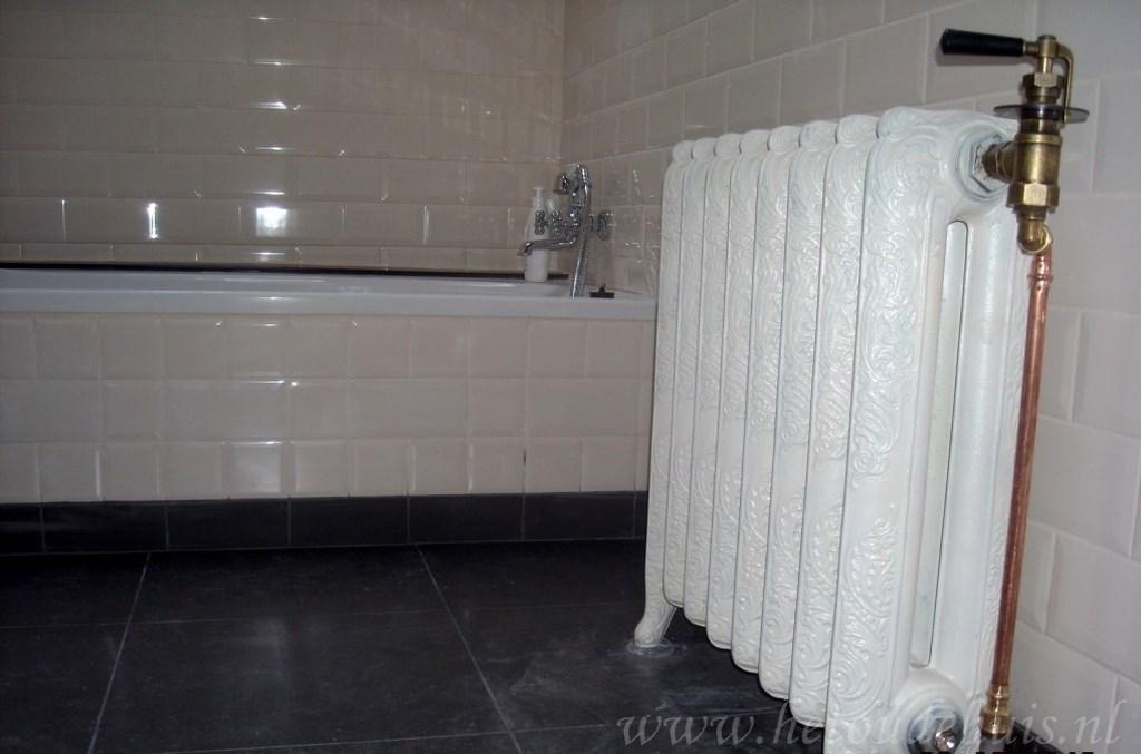 geplaatste gietijzeren radiator 109 e