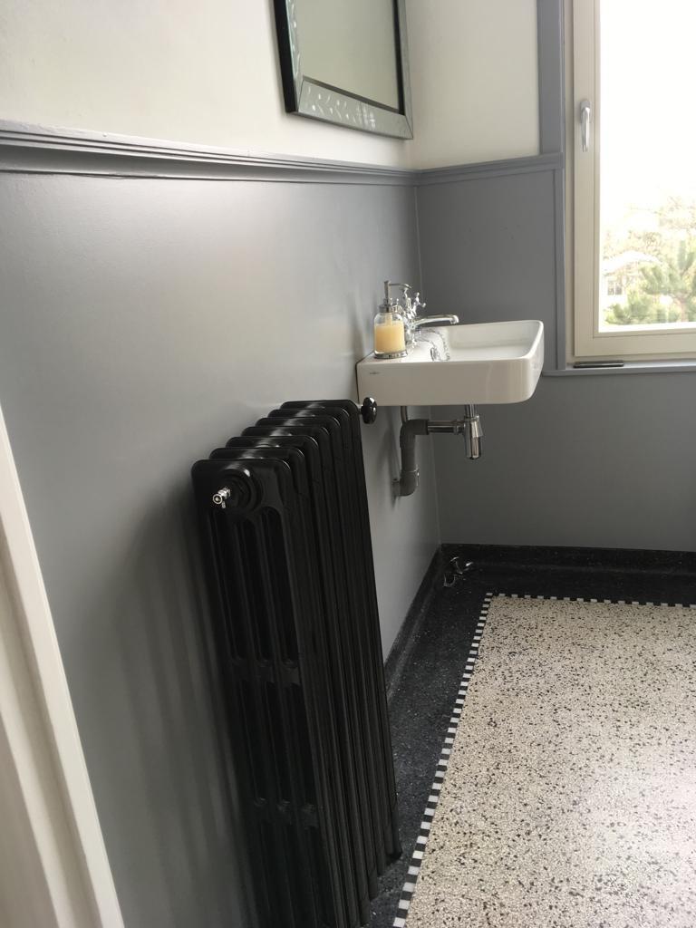geplaatste gietijzeren radiator 128 a