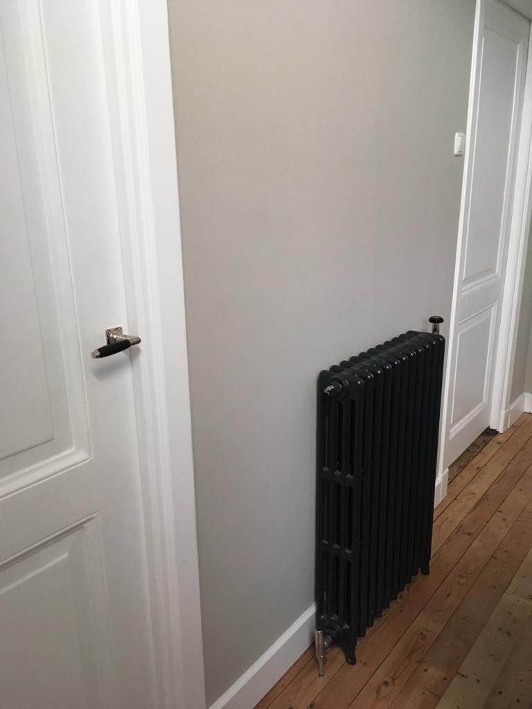 geplaatste gietijzeren radiator 128 d