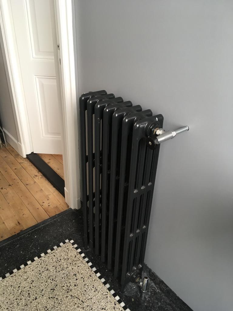 geplaatste gietijzeren radiator 128