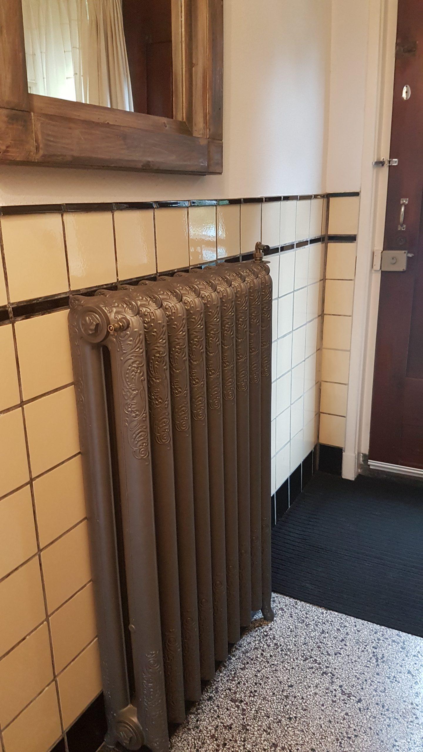 geplaatste gietijzeren radiator 133 a