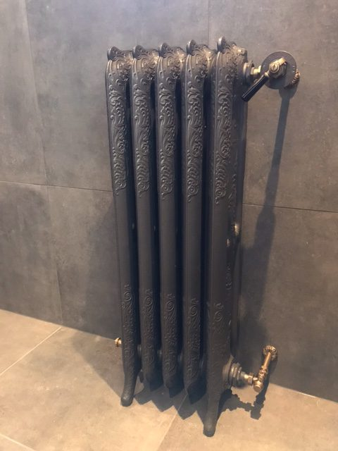 geplaatste gietijzeren radiator 134