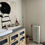 oude radiatoren met bloemmotief